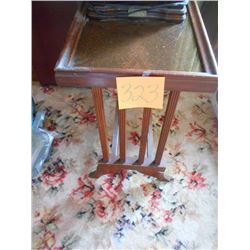 Antique Glass Top Lamp Stand