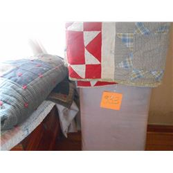 Ironing Board and Quilts