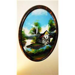 Reverse Painting, Framed