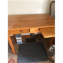 Solid Oak Kid's Desk
