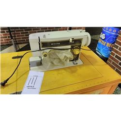 BUNDLE LOT: 2 White Sewing Machines, 1 WORKS, 1 AS-IS
