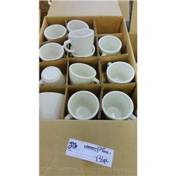 BUNDLE LOT: 47 PC Homer Laughlin Coffee Cups, NEW