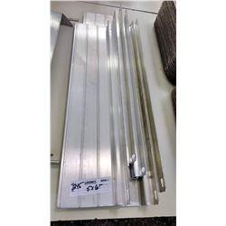 BUNDLE LOT: Aluminum and Metal Shelving, Racks, Pitchers, Trays