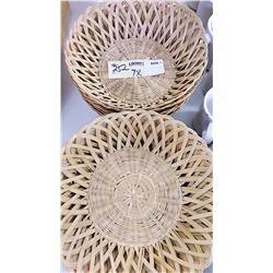 BUNDLE LOT: Wicker Bread Baskets (14)