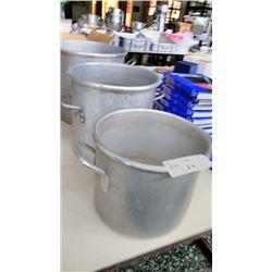 3 Aluminum Soup Kettles