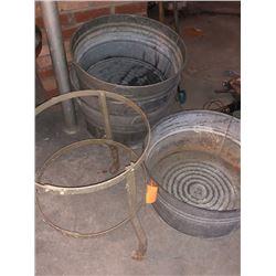 4x Washtubs Grain Tub w/ 1x Stand