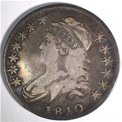 1810 CAPPED BUST HALF DOLLAR, VF/XF