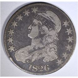 1826 CAPPED BUST HALF DOLLAR, FINE