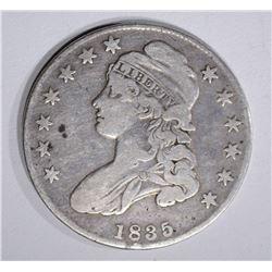 1835 CAPPED BUST HALF DOLLAR  F-VF