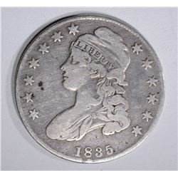 1835 CAPPED BUST HALF DOLLAR  F-VF