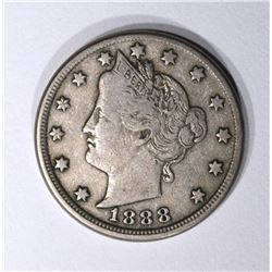 1888 LIBERTY V NICKEL VF