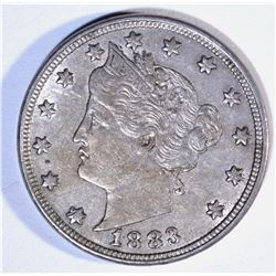 1883 NO CENTS LIBERTY NICKEL, CH BU