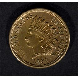 1863 INDIAN HEAD CENT, BU