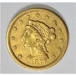 1877-S $2.50 GOLD LIBERTY,AU