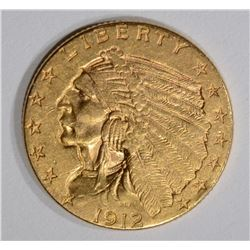 1912 $2.50 INDIAN GOLD CH BU
