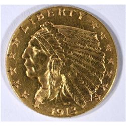 1913 $2.50 INDIAN GOLD CH BU