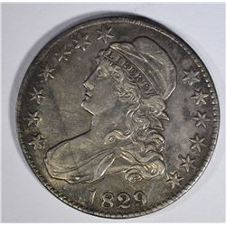 1829/7 CAPPED BUST HALF DOLLAR AU-UNC