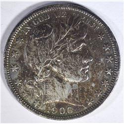 1906 BARBER HALF DOLLAR  AU/UNC