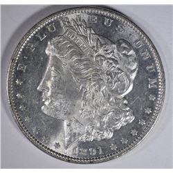 1891 MORGAN DOLLAR  CH BU PL