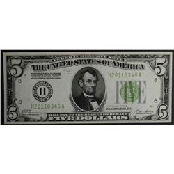 1928 B $5 FEDERAL RESERVE NOTE GREEN SEAL