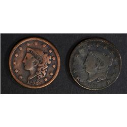 1838 FINE cleaned 1831 FINE LARGE CENTS