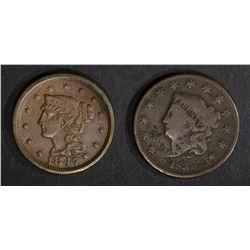 1831 F/VF porosity & 47 XF/AU porosity LARGE CENTS
