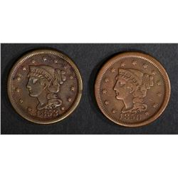 1850 & 1853 VF/XF LARGE CENTS