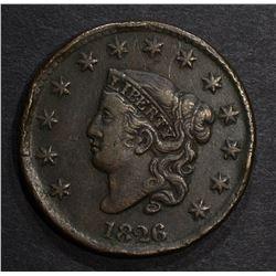 1826 LARGE CENT, VF
