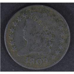 1809 HALF CENT, VF porosity