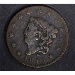1816 LARGE CENT F/VF