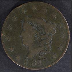 1817 LARGE CENT FINE SCRATCH REV