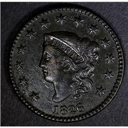 1826 LARGE CENT XF+ MINOR POROSITY