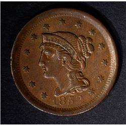 1852 LARGE CENT, AU CHOCOLATE BROWN GORGEOUS