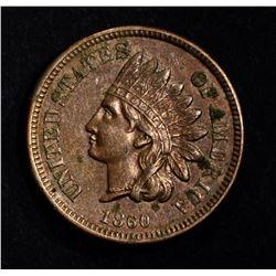 1860 CN INDIAN HEAD CENT CH BU