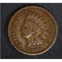 1908-S INDIAN HEAD CENT, VG
