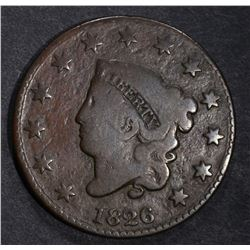 1826 LARGE CENT, VG/FINE
