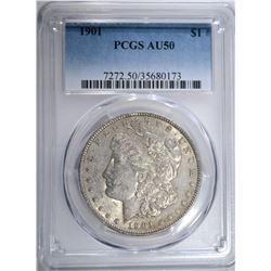 1901 MORGAN DOLLAR PCGS AU50