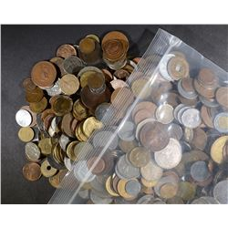 OVER 25 POUNDS MIXED FOREIGN COINS