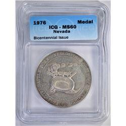 1976 NEVADA MEDAL ICG MS60