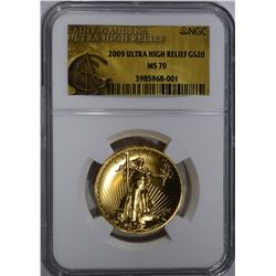2009 ULTRA HIGH RELIEF $20.00 GOLD