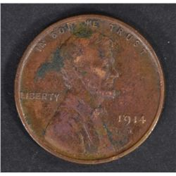 1914-D LINCOLN CENT  XF