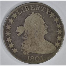 1805 DRAPED BUST HALF DOLLAR