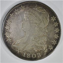 1808 CAPPED BUST HALF DOLLAR  VF