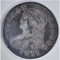 1811 LARGE 8 CAPPED BUST HALF DOLLAR