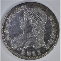 1811 SMALL 8 CAPPED BUST HALF DOLLAR