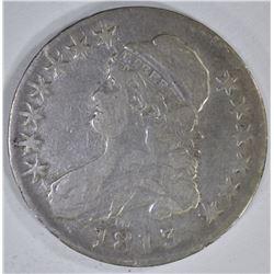 1813 CAPPED BUST HALF DOLLAR  FINE-VF