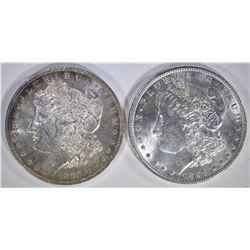 1896 & 1885-O MORGAN DOLLARS  CH BU