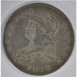 1817/3 CAPPED BUST HALF DOLLAR  FINE