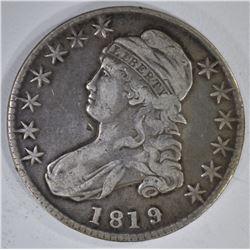 1819/8 CAPPED BUST HALF DOLLAR  FINE+