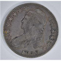 1820/19 CAPPED BUST HALF DOLLAR CURL BASE 2